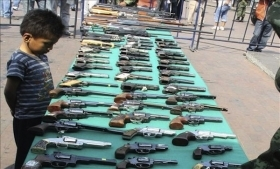 Weapons handed in during a previous disarmament program