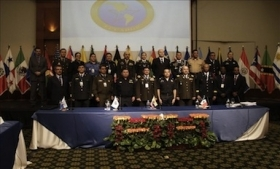 Regional police chiefs at the recent Ameripol meeting