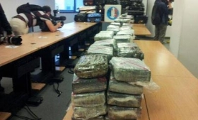 Cocaine seized from the Air France flight from Venezuela