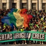 A rally supporting Uruguay's marijuana legislation