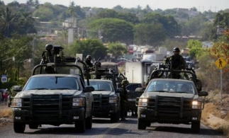 Mexico security forces on patrol
