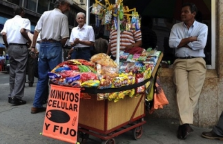 Street vendors in Colombia are often targeted for extortion