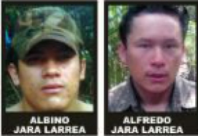 Albino and Alfredo Jara Larrea, heads of the new guerrilla faction