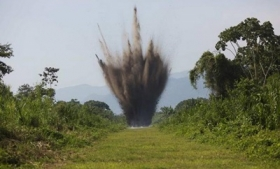 Explosives detonated during the operation