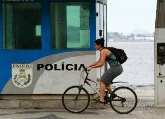 A police station in Niteroi, Brazil