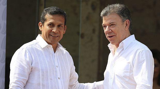 President Juan Manuel Santos meets President Ollanta Humala in Iquitos