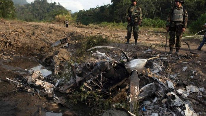 Airstrip destroyed  by Peruvian security forces