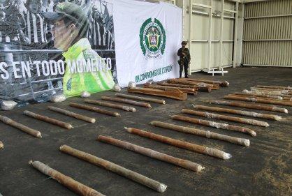 The cocaine paste seized in Barranquilla