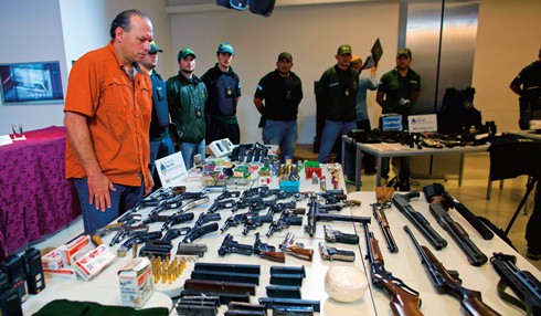 Guns seized from drug traffickers in Argentina