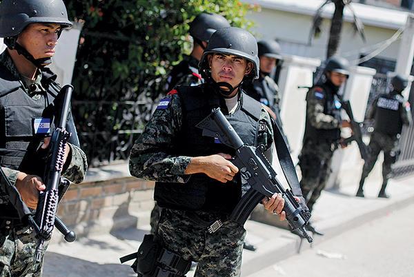 Military police in Honduras