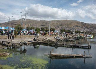 A Peruvian port on Lake Titicaca