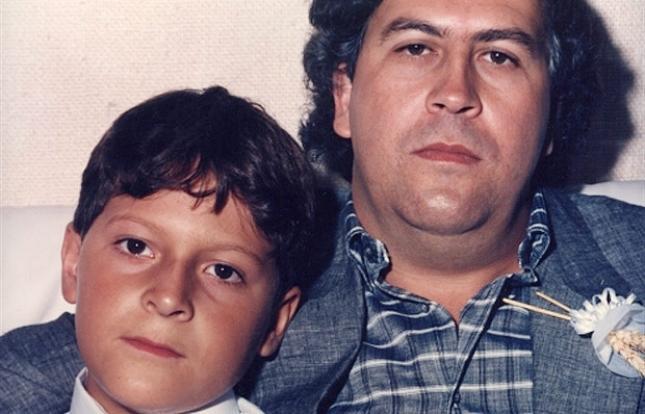 Pablo Escobar and his son Juan Pablo