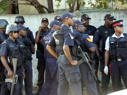 Police in Jamaica's capital, Kingston