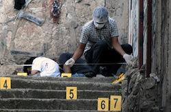 A murder scene in Tegucigalpa