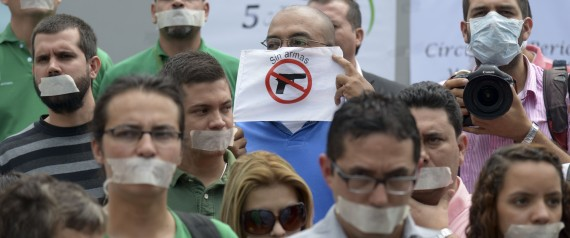 Journalists protest the murder of one of their own in Antioquia