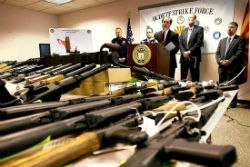 Weapons seized along US border with Mexico