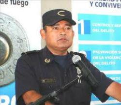 El Salvador's Police Director Mauricio Ramirez Landaverde