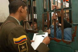Inmates in Colombia's temporary detention facilities