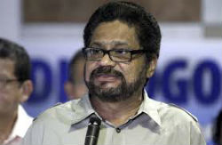 """Ivan Marquez"", a senior FARC spokesperson in Havana"