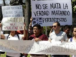A protest in Mexico in support of journalists