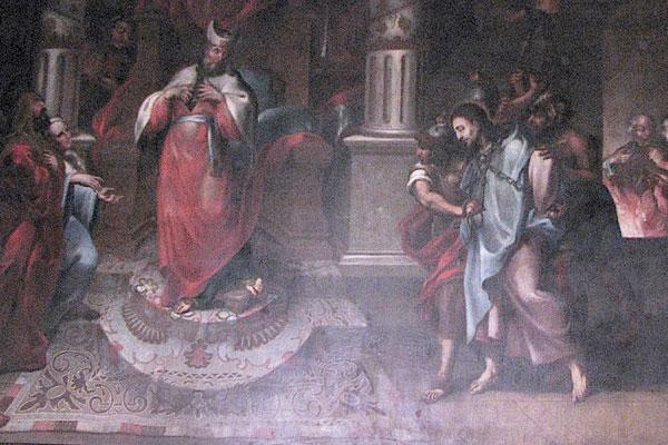 Tomas de Merlo's Jesus before Caiaphas