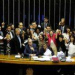 Legislators in Brazil celebrating the new femicide law