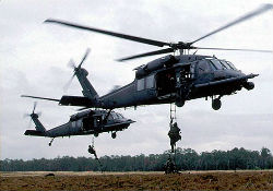 A Blackhawk helicopter used by the Mexican military