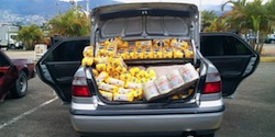 A car carrying contraband in Venezuela