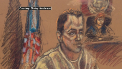 Courtroom sketch of Ralph Mata