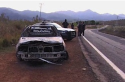The scene of the attack in Jalisco