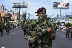 A member of El Salvador's special forces