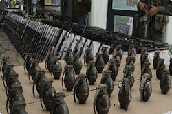 Trafficked grenades from the Salvadoran military