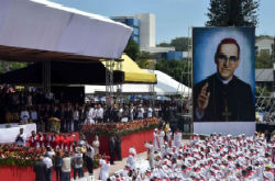 A scene from Romero's beatification