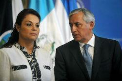 Roxana Baldetti and President Otto Perez Molina