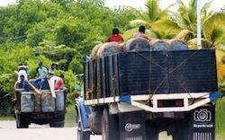 A gasoline caravan near the border