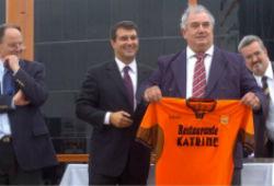 Patricio Gorosito holding a soccer jersey