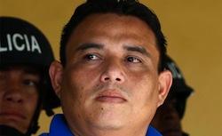 Arrested policeman Wilmer Alonso Carranza Bonilla