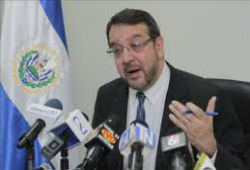 El Salvador's Forensic Medicine Director Miguel Fortin Magana