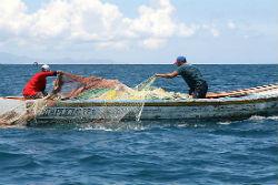 Fishermen on Lake Maracaibo