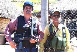 Joaquin 'El Chapo' Guzman (left) prepares for battle