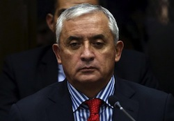 Former Guatemala President Otto Perez Molina