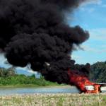 A crashed drug plane in Peru