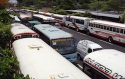 El Salvador's public bus system is extensive