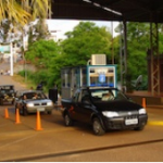 A border checkpoint in Bernardo de Irigoyen