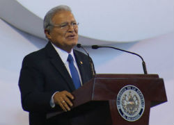 El Salvador President Salvador Sanchez Ceren
