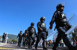 Members of Acapulco's new anti-kidnapping unit