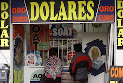 A currency exchange house in Peru