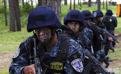 Members of Los Tigres, a special forces unit of the Honduran Police