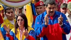 Cilia Flores and Nicolas Maduro