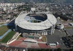 A soccer stadium in Rio de Janeiro